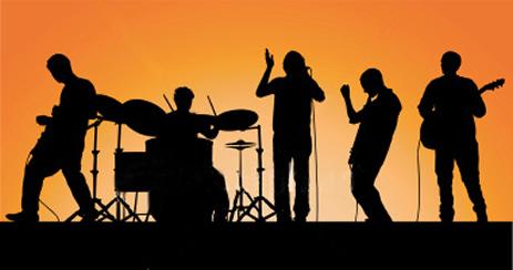 Live band shadow